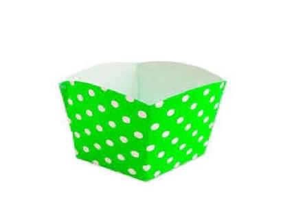 Imagen de Cajitas para golosinas lunares verde manzana