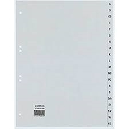 Imagen de Separador Alfabético plástico A4 color gris