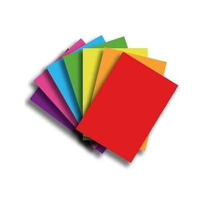 Imagen de Papel Fotocopia  A4 Color Paquete 100 unidades surtidas