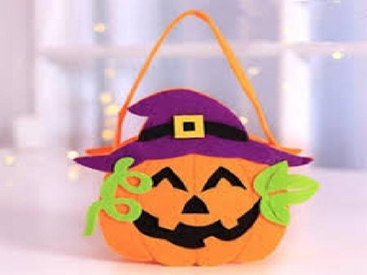 Imagen de Halloween bolsa franela caramelos 4658/240