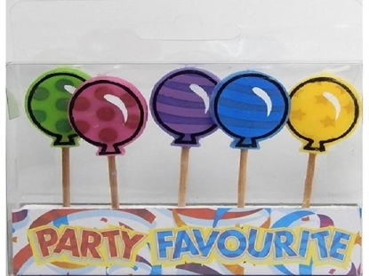 Imagen de Velas de cumpleaños globos x5
