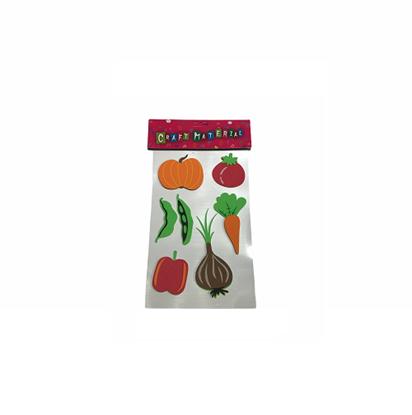 Imagen de Figuras adhesivas goma eva alimentos