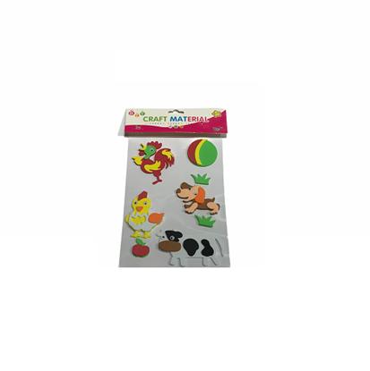 Imagen de Figuras adhesivas goma eva animales granja