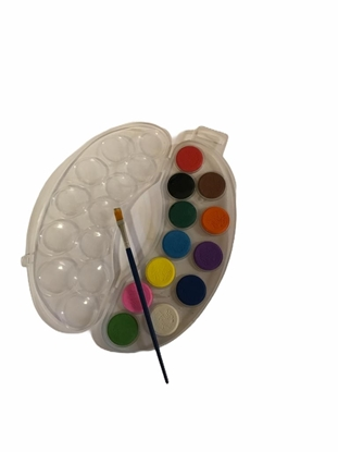 Imagen de Acuarela 12 colores +Pincel y estuche mezclador