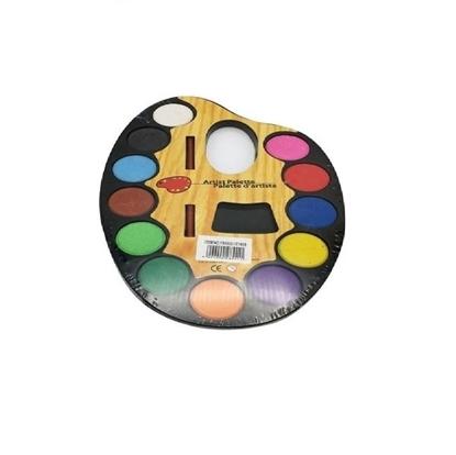 Imagen de Acuarela 12colores en paleta +Pincel