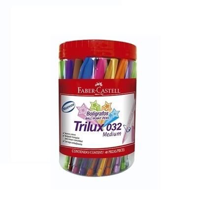 Imagen de Bolígrafo faber trilux colores x 48