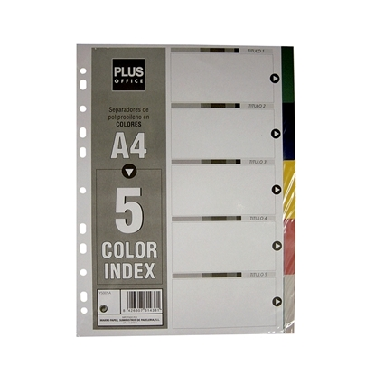 Imagen de Separador Plástico 5 colores