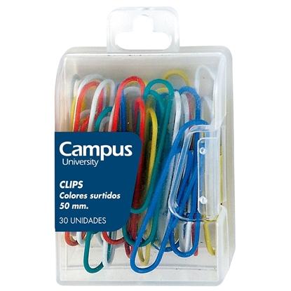 Imagen de Clip campus  50mm colores surtidos