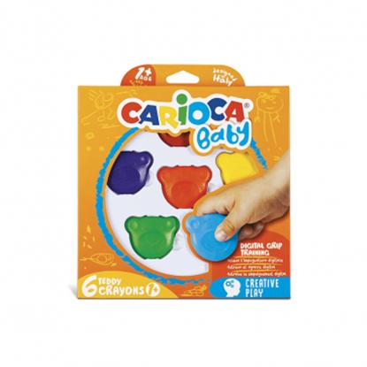 Imagen de Carioca Crayola Cera baby con forma de oso caja x6