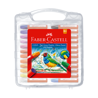 Imagen de faber castell óleo pastel 24 unidades estuche plástico