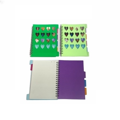 Imagen de Cuaderno A5 con 5 separadores