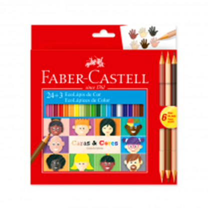 Imagen de Color faber Castell x24 caras y colores