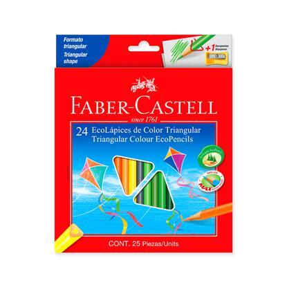 Imagen de Color faber Castell x24 rojo c/sacapunta