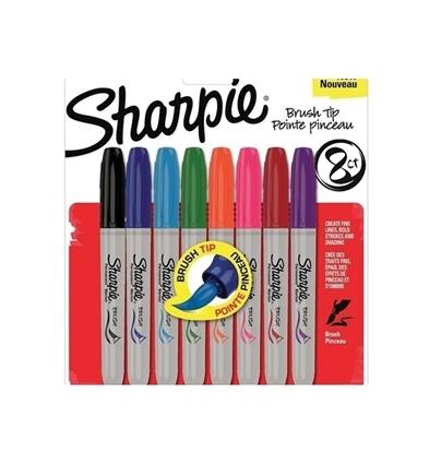 Imagen de Sharpie marcador brush x8 punta pincel