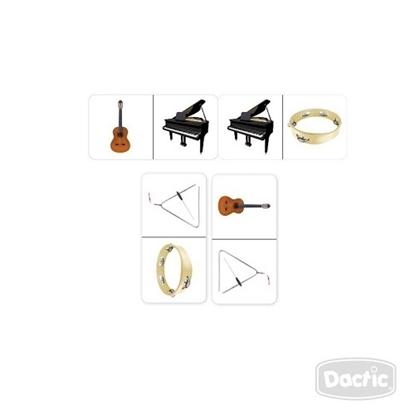 Imagen de Dactic dominó instrumento musical cartón
