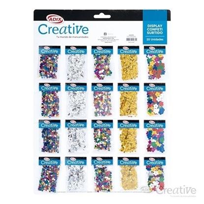 Imagen de Confetti creative display surtido 20 unidades