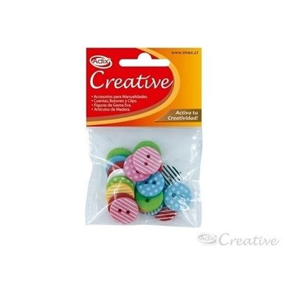 Imagen de Botón plástico creative 20 unidades surtido