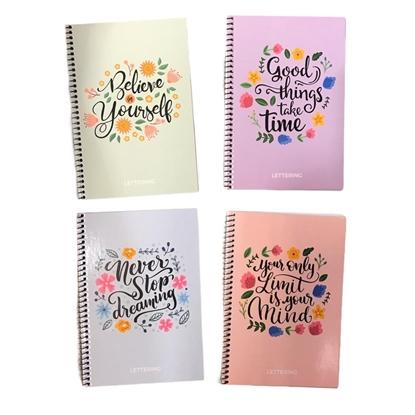 Imagen de Cuaderno a5 lettering   con espiral  frases
