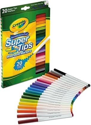 Imagen de Marcador Crayola delgados lavables punta cónica x 20