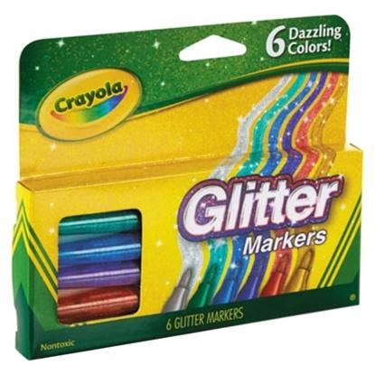 Imagen de Marcador Crayola 6 unidades con glitter