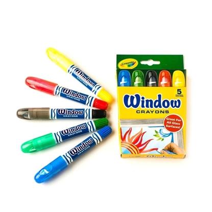 Imagen de Crayola lavables para vidrio 5unidades