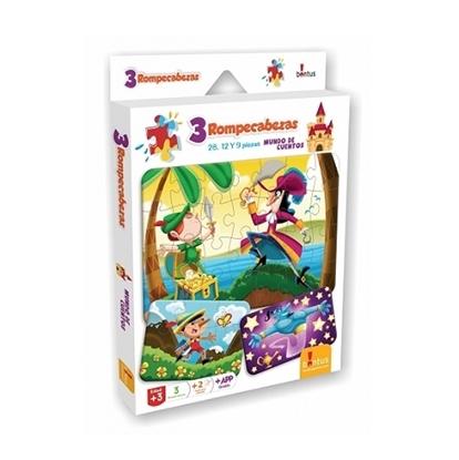 Imagen de Bontus 3 puzles + hojas p/col - mundo de cuentos