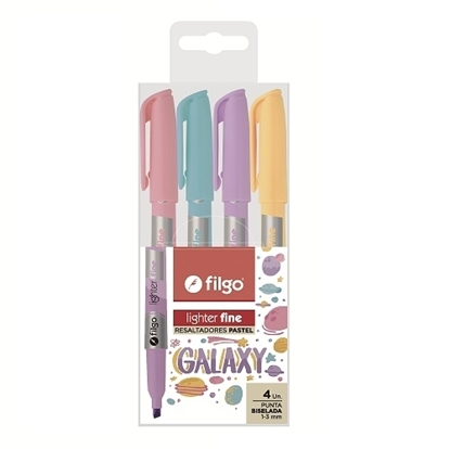 Imagen de Filgo resaltador lighter fine - estuche 4 Galaxy