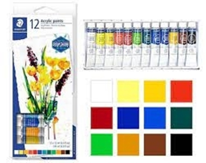 Imagen de Pintura acrilica staedtler de 12 ml caja de 12