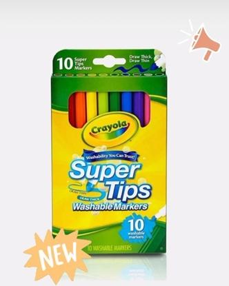 Imagen de Crayola marcadores delgados lavables punta fina x 10