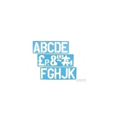 Imagen de Plantilla normógrafo de letras set para armar neolite