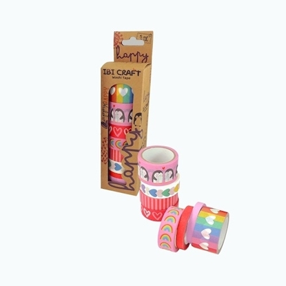 Imagen de Cinta adhesiva ibi craft pack x 8 impresióin estandar