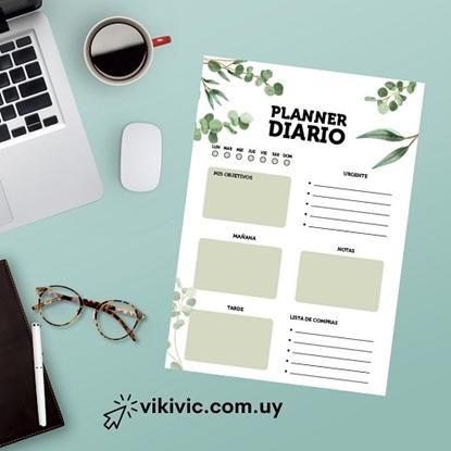 Imagen de Planificador diario ilustra a5 (Planner Hojas)