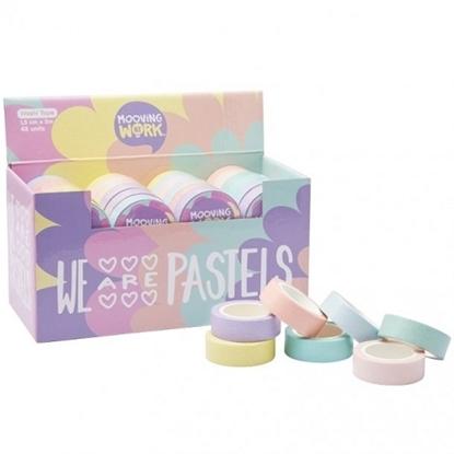 Imagen de Cinta adhesiva con brillantina pastel mooving