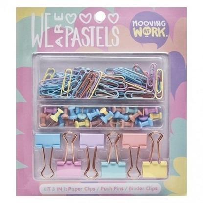 Imagen de Artículos escritorio pastel mooving set blister x 3