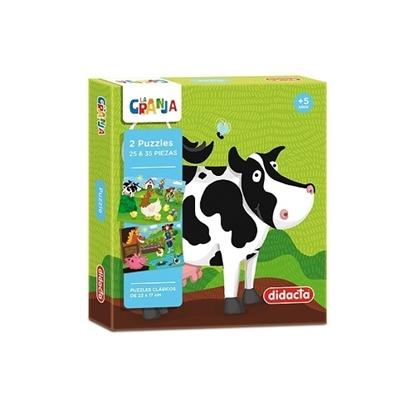 Imagen de didacta 2 puzzles de 25 y 35 piezas la granja